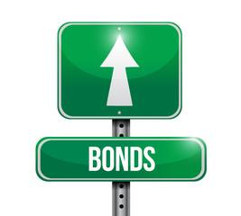 bonds street sign illustration design