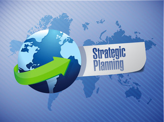 strategic planning globe sign illustration