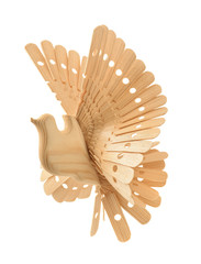 Traditional russian wooden toy Bird of happiness