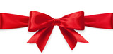 Red satin bow - 72934301