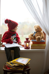 Boy, writing letter to Santa