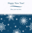 New Year greeting card.