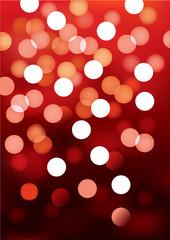 Red festive lights, vector background.