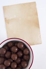 Chocolate candy round