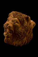 Pipa di radica - testa di leone