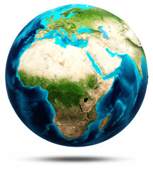 Earth real relief, modified maps