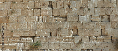 Tuinposter Bedehuis Stones of the wailing wall in Jerusalem
