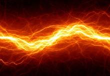 "Постер, картина, фотообои ""Abstract hot fire lightning"""
