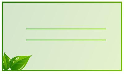 Biglietto da visita green