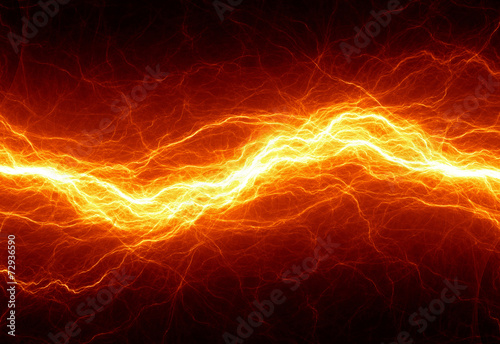 canvas print picture Abstract hot fire lightning