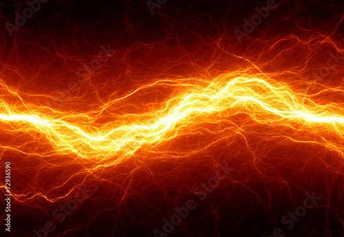 Leinwandbild Motiv Abstract hot fire lightning