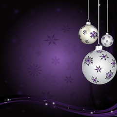 Purple Snowflakes With Purple and White Balls