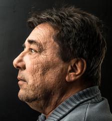 profilo maschile rugoso
