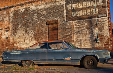 Old car and typo