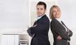 Erfolgreiches Team: Business Frau in Führungsposition