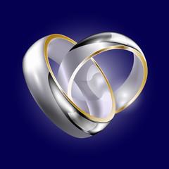 White golt wedding rings