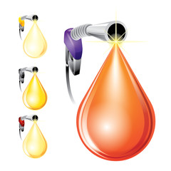 Oil drop concept - vector illustration
