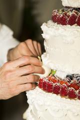 Hands of baker