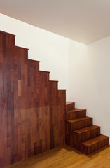 Interior, hardwood staircase