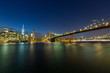 New York Downtown Skyline at Dusk