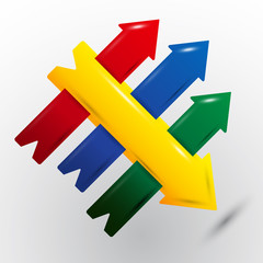 Plastic arrow vector