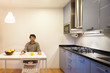 comfortable domestic kitchen