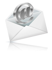 Concept representing email with envelope