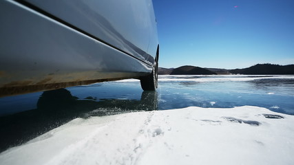 Drive the Car Across the Frozen Lake Baikal