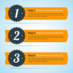 Vector steps, progress banners in flat style for you infographic