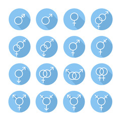 Sexual orientation gender web icons,symbol,sign in flat style