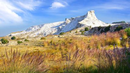 Travertine terraces in Pamukkale Turkey