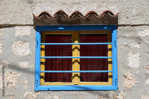 canvas print picture Fenster in Rovinj, Istrien