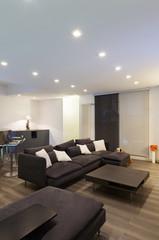 Interior, wide living room