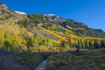 Autumn Foliage Maroon Creek near Maroon Bells