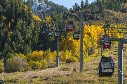 Fotobehang Wintersporten Aspen Ski Lift