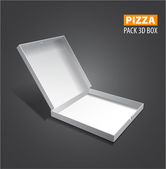 Vector pizzza box illustration.