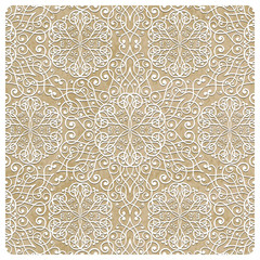 Vector  Winter Pattern with Snowflakes