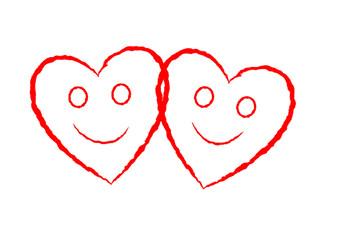 Zwei verliebte Herzen