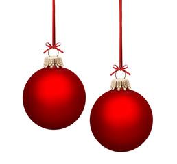 Rote Weihnachtskugeln..