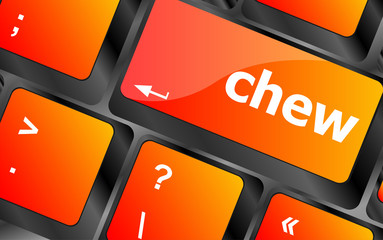 chew button on computer pc keyboard key