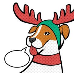 Christmas reindeer. Vector illustration