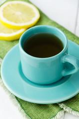 Mint tea with lemons