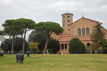Saint Apollinare in Classe Basilica with the round bell tower