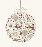 Fototapety Vintage Christmas bauble greeting card