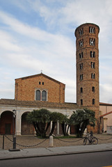New Basilica of Saint Apollinaire with the round bell tower.