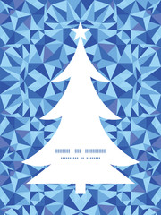 Vector blue triangle texture Christmas tree silhouette pattern