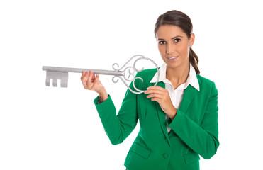 Konzept: Schlüssel zum Erfolg, Glück, Fertighaus bauen