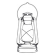 Antique Old Kerosene Lamp isolated on a white background. - 72943914