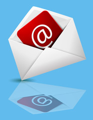 e-mail symbol with envelope