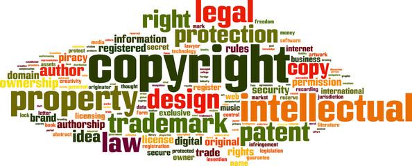 Copyright word cloud concept. Vector illustration